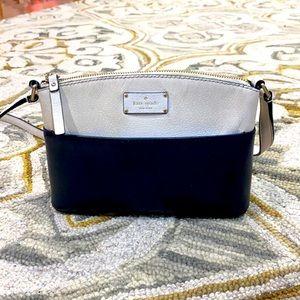 ♠️ Kate spade white black leather shoulder bag ♠️